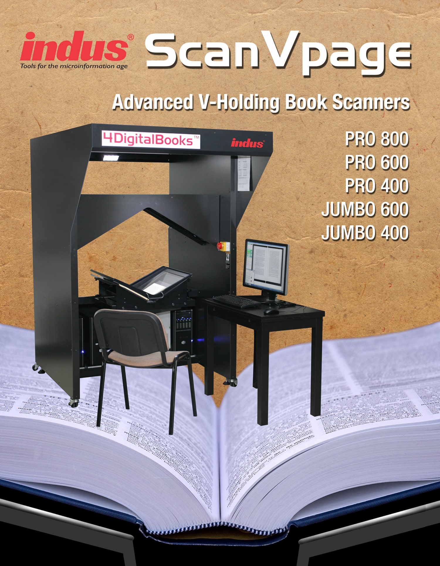 V Shape Book Scanner